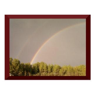 Postal doble del arco iris
