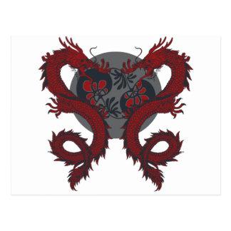 Postal doble del dragón
