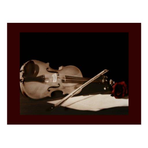 Postal dulce de Melondy del violín clásico de la b