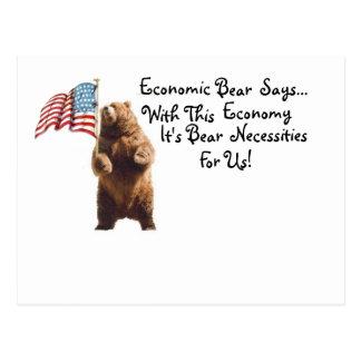 Postal económica del oso