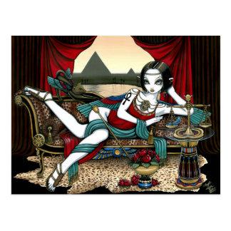 Postal egipcia del ángel de Maat de la diosa de Ma