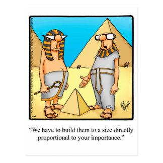 Postal egipcia divertida del humor