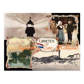 Postal Egmond Zee aan de Holanda del estilo del