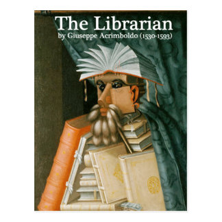 Postal: El bibliotecario