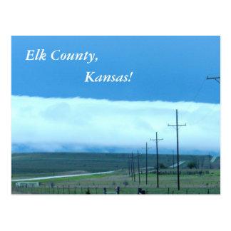 Postal:  ¡El condado de Elk, Kansas! Postales