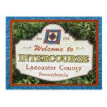 Postal el condado de Lancaster de la cópula. Añada