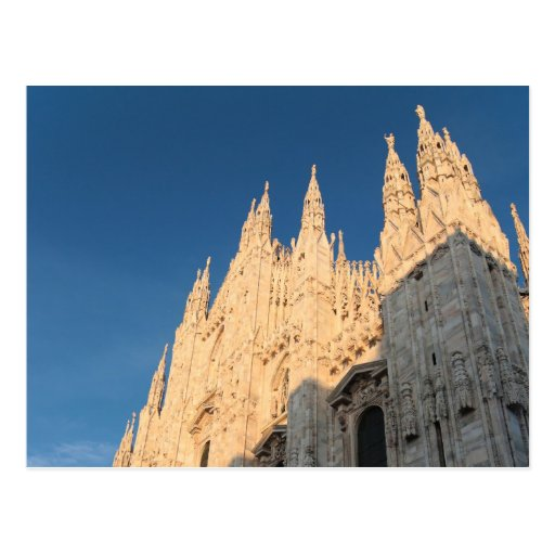 Postal: El Duomo de oro de Milano