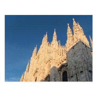 Postal: El Duomo de oro de Milano Tarjetas Postales