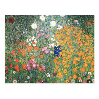 Postal - el jardín de flores