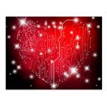 Postal eléctrica del amor