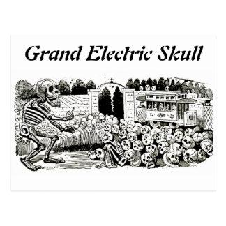 Postal eléctrica magnífica del cráneo