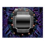 Postal electrónica del circuito de la placa madre