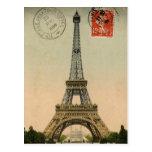 Postal elegante francesa de París de la torre