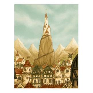 postal elevada del arte de la fantasía