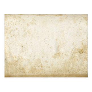 Postal en blanco del papel de la antigüedad de la