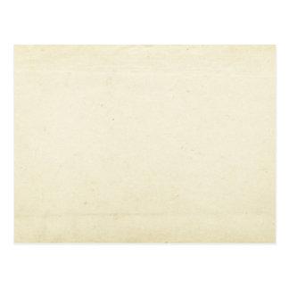 Postal en blanco del papel del vintage
