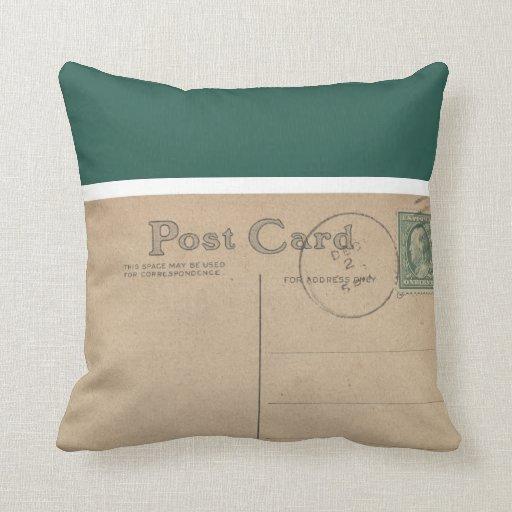 Postal en blanco del vintage - almohadas