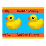 Postal en blanco Ducky de goma