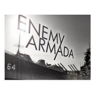 Postal enemiga del logotipo de la nave de la armad