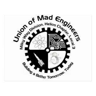 Postal enojada de los ingenieros