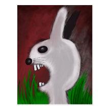 Postal enojada del conejito