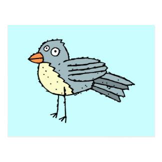 Postal enrrollada del pájaro de la granja