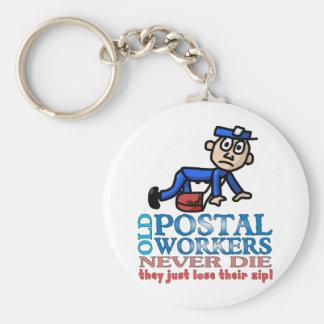 Postal Epitaph Basic Round Button Keychain