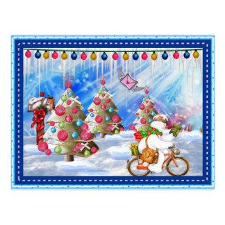 Postal escarchada del navidad de la entrega del dí
