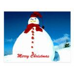 Postal escarchada del navidad del invierno