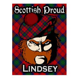 Postal escocesa del tartán de Lindsey Lindsay del