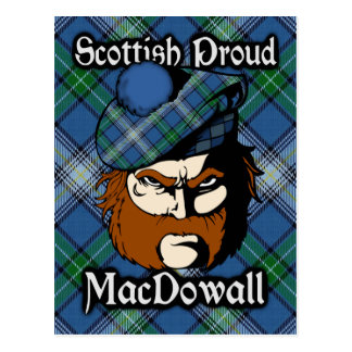 Postal escocesa del tartán de MacDowall del clan
