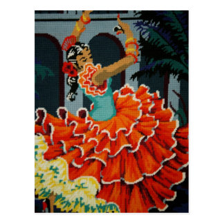 Postal española del bailarín del flamenco