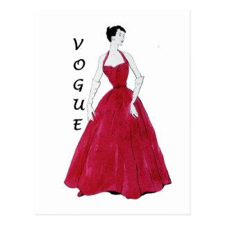 Postal especial del diseño de Vogue