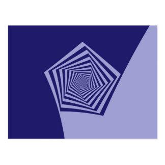 Postal espiral de los azules de Pentágono