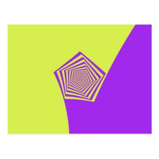 Postal espiral del limón y de la lila