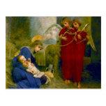 Postal espiritual del navidad de los ángeles