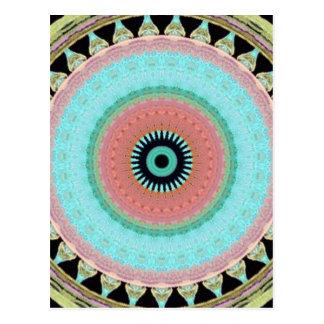 Postal estampado geométrico esfera Totem