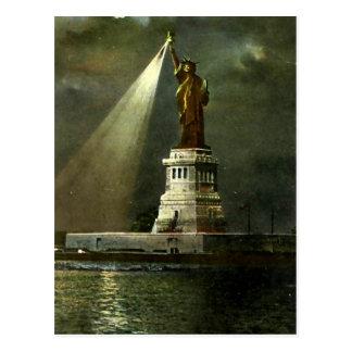 Postal - estatua de la libertad