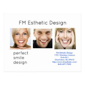 Postal estética del diseño de FM