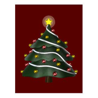 postal Estrella-rematada del árbol de navidad
