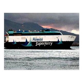 Postal estupenda hawaiana del transbordador