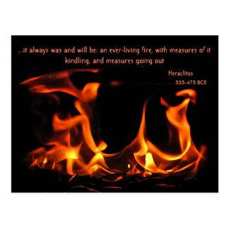 Postal eterna del fuego de Heraclitus