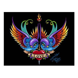 Postal eterna del tatuaje del trago del arco iris