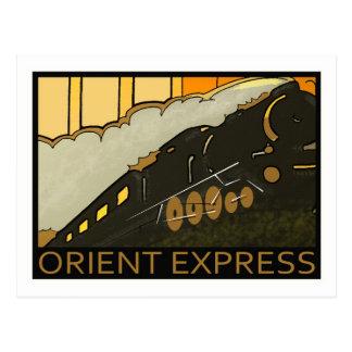 Postal expresa del vintage de Oriente