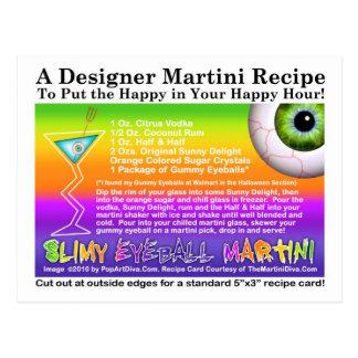Postal fangosa de la receta de Halloween Martini d