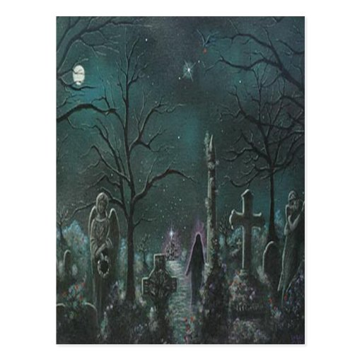 Postal fantasma del cementerio