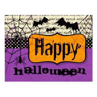 Postal fantasmagórica de Halloween de los palos