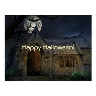 Postal fantasmagórica de las escenas de Halloween