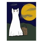 Postal fantasmagórica del gatito del truco o de la