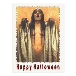 Postal fantasmagórica para Halloween